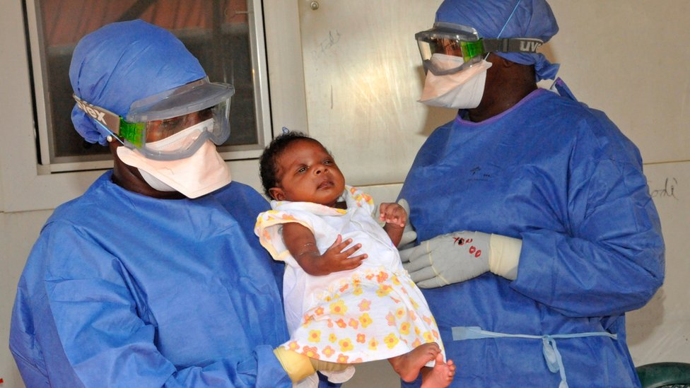 Baby who had been successfully treated for Ebola in Guinea