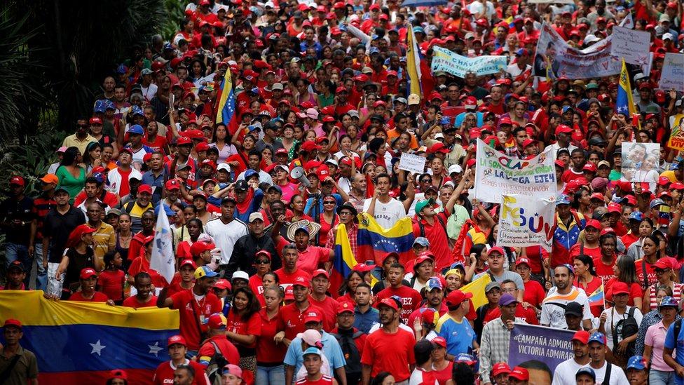 مظاهرة لمؤيدي الرئيس الفنزويلي مادورو