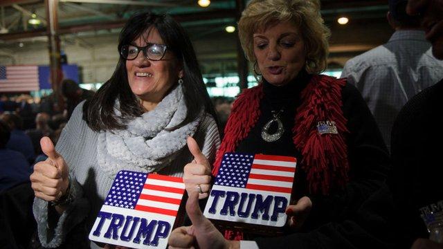 Cientos de ciudadanos de Pensilvania mostraron su apoyo a Trump esta semana.