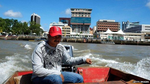Boatman in the capital of Brunei, Bandar Seri Begawan