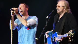 Coldplay and Bee Gees close Glastonbury