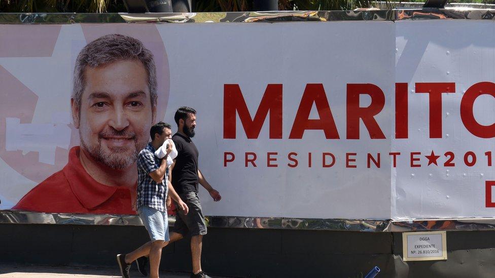 Propaganda electoral de Mario Abdo Benítez