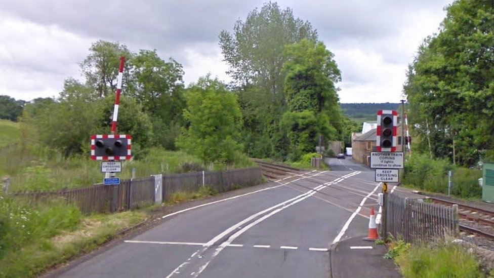 Hexham: Train crashes into taxi at Warden level crossing