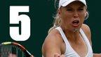 VIDEO: Wozniacki v Allertova - 5 best shots