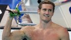 Cameron van der Burgh celebrates his new world record