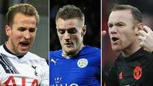 Harry Kane, Jamie Vardy and Wayne Rooney