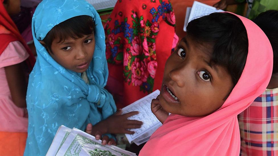 أطفال لاجئين من الروهينجا