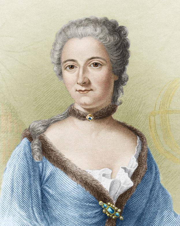 Libre para amar a la científica Émilie du Châtelet.