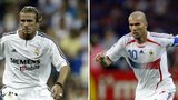David Beckham and Zinedine Zidane