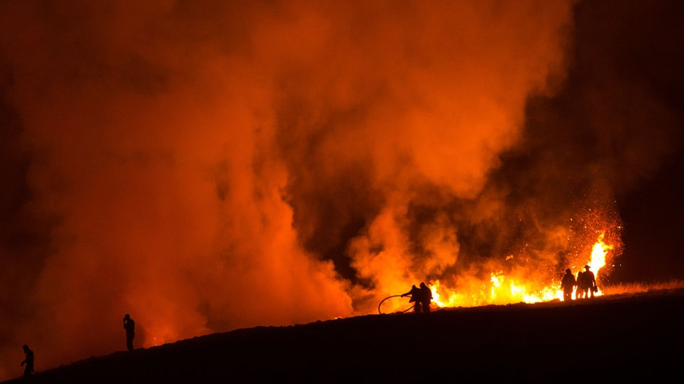 Marsden Moor fire 'started by barbecue'