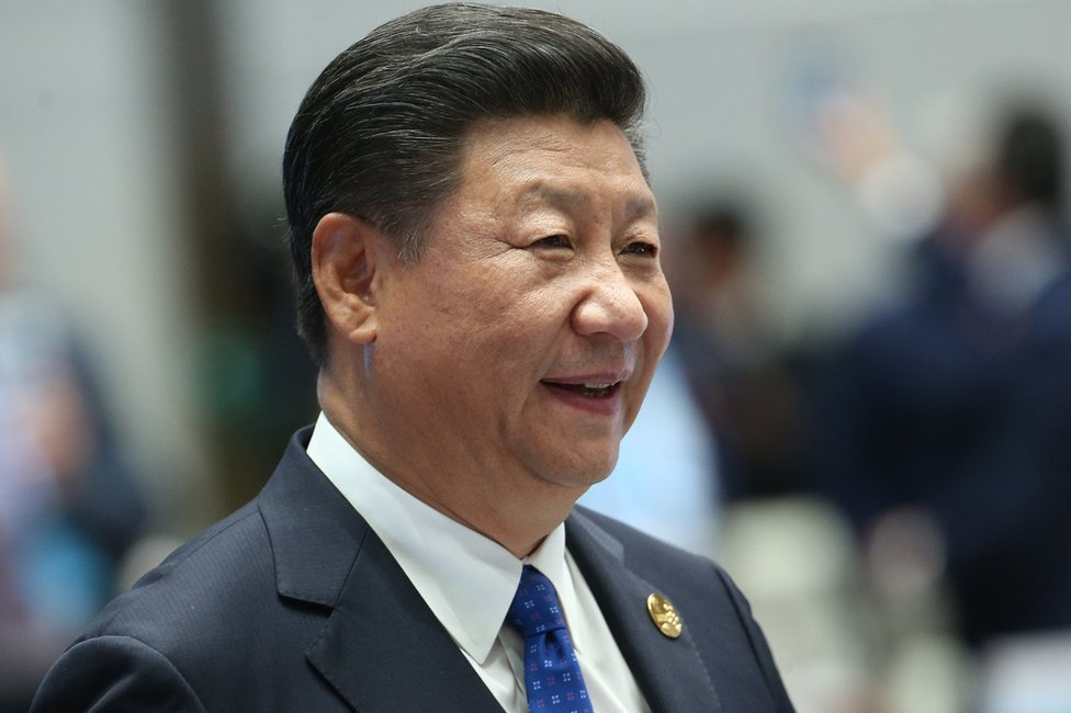 Chinese President Xi Jinping attends the Dialogue of Emerging Market and Developing Countries on the sidelines of the 2017 BRICS Summit in Xiamen, southeastern China's Fujian Province on 5 September 2017