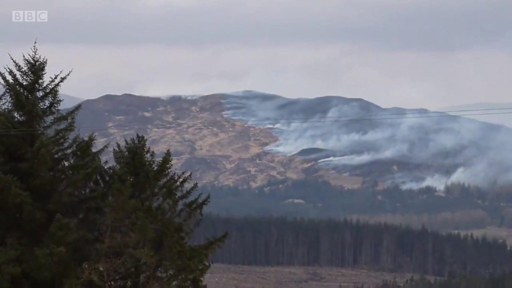 Firefighters battle blaze on East Ayrshire hillside