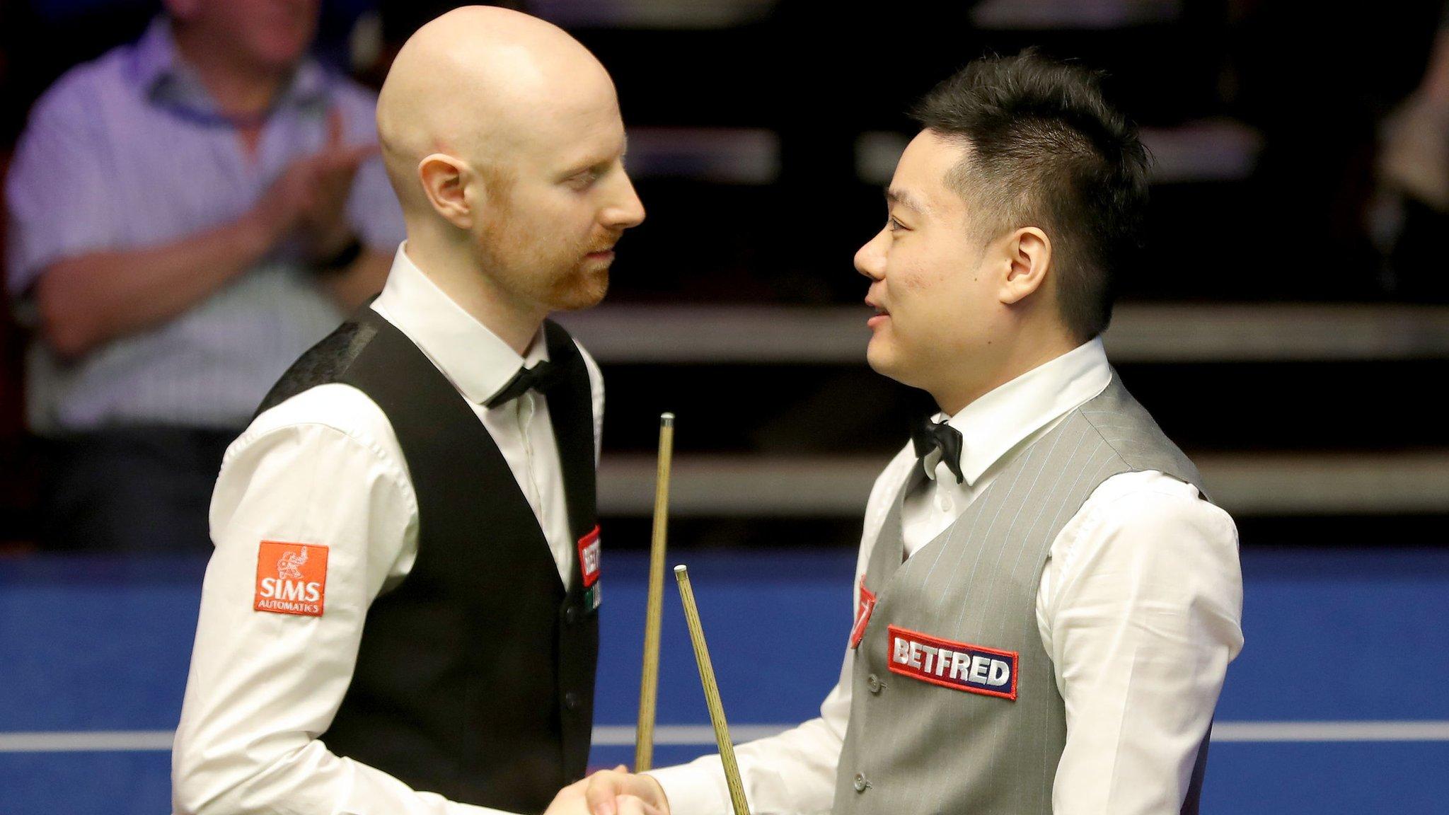 World Championship 2019: Ding Junhui beats Anthony McGill