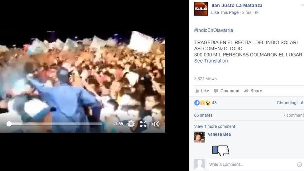 Fanáticos usaron las redes sociales para trasmitir imágenes del concierto