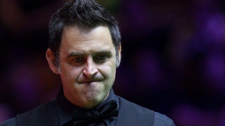 China Championship: Ronnie O'Sullivan beaten by Luca Brecel in quarter-finals