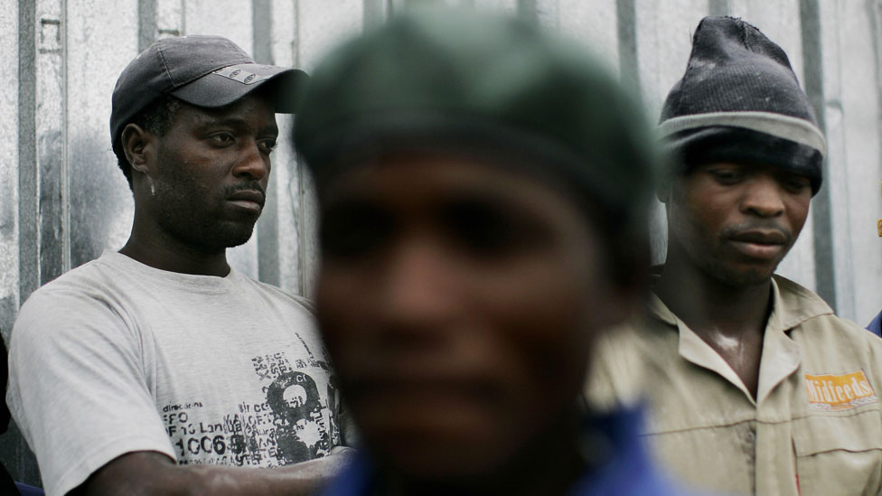 Jóvenes en Zimbabue