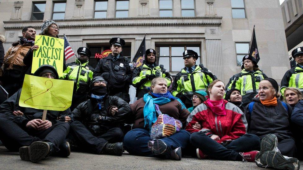 Web firm fights DoJ on Trump protesters