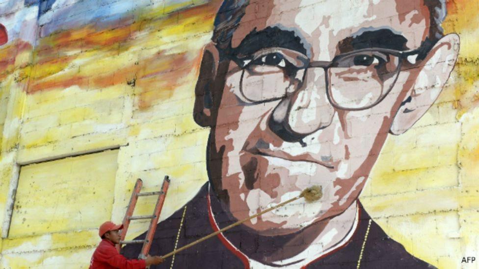 Mural de monseñor Oscar Arnulfo Romero.