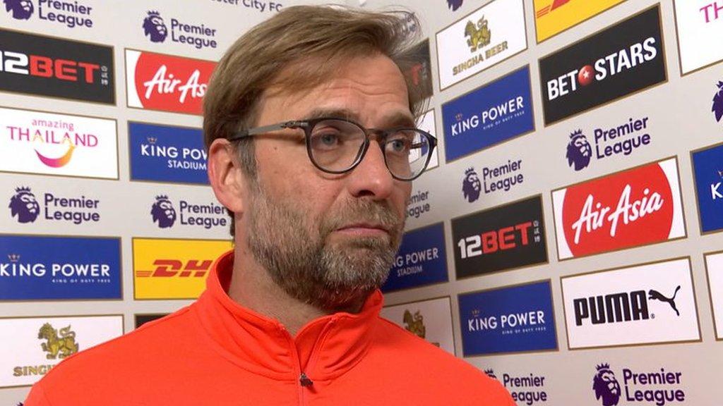Bad start, bad middle, bad end - Klopp on Liverpool
