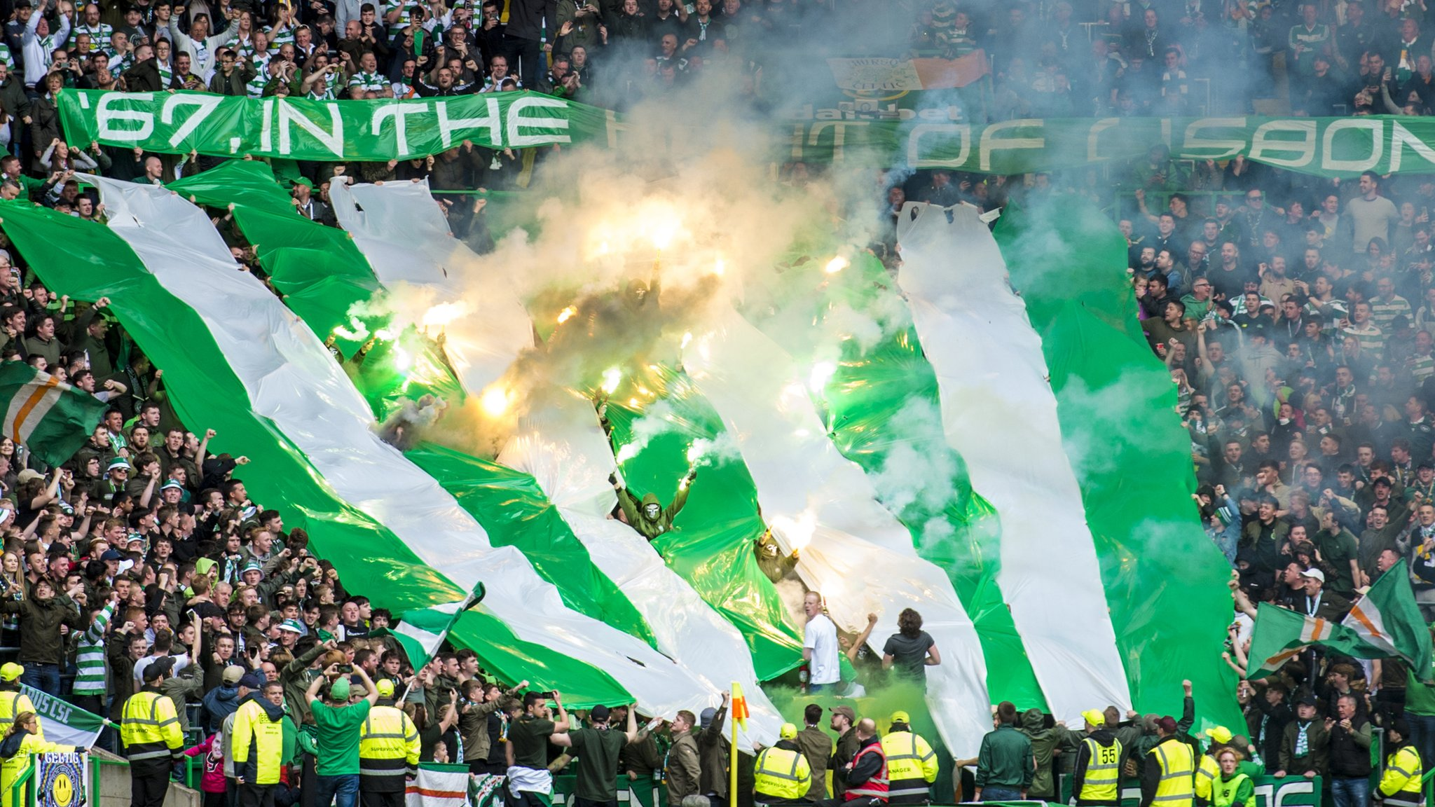 Two-game ban for Celtic's Green Brigade