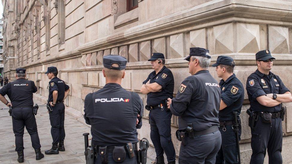 Spanyol, polisi