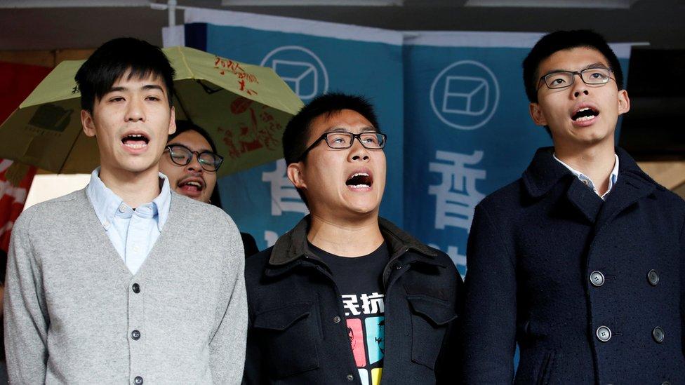 多名示威者出庭聽取判刑。