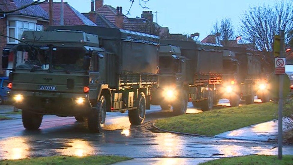 شاحنات عسكرية