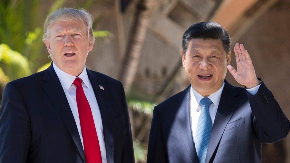 美國總統特朗普和中國國家主席習近平