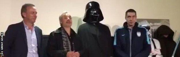 Omar Gonzalez dressed as Darth Vader