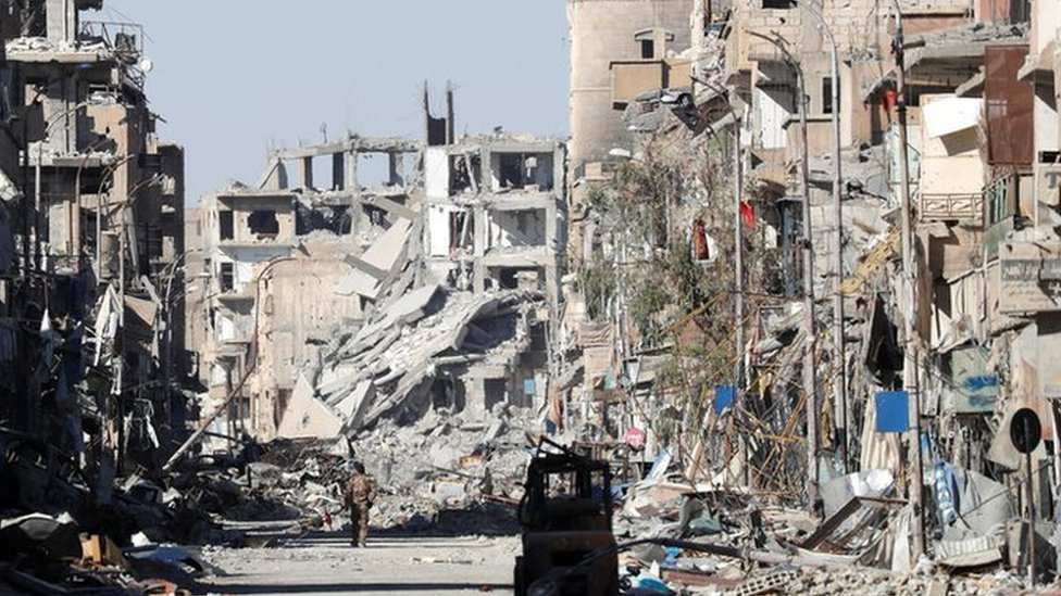Raqqa: US coalition 'wiped city off Earth', Russia says