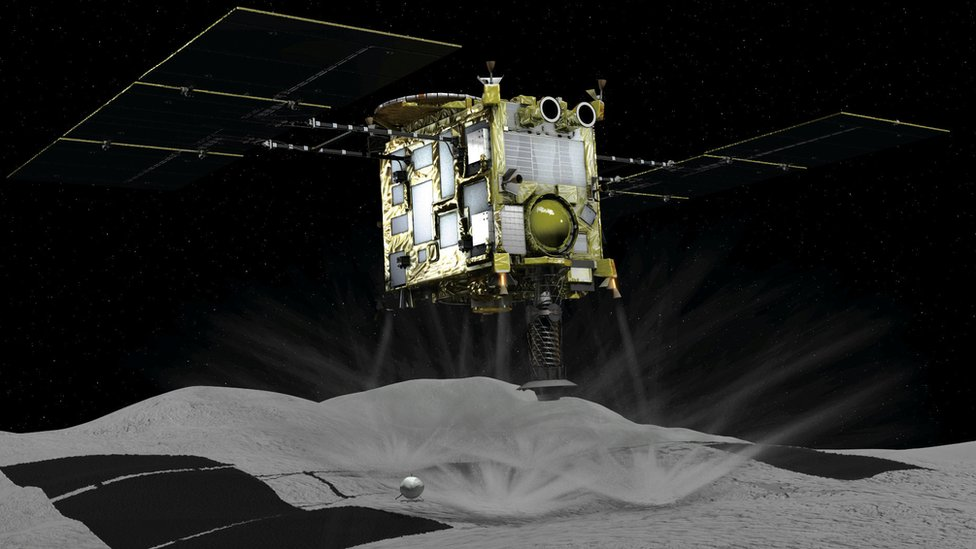 Hayabusa-2: Japan spacecraft touches down on asteroid