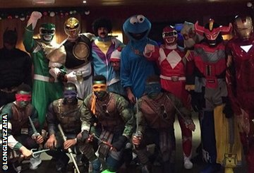 Crystal Palace players in fancy dress