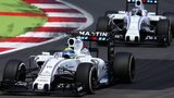 Williams drivers Felipe Massa and Valtteri Bottas