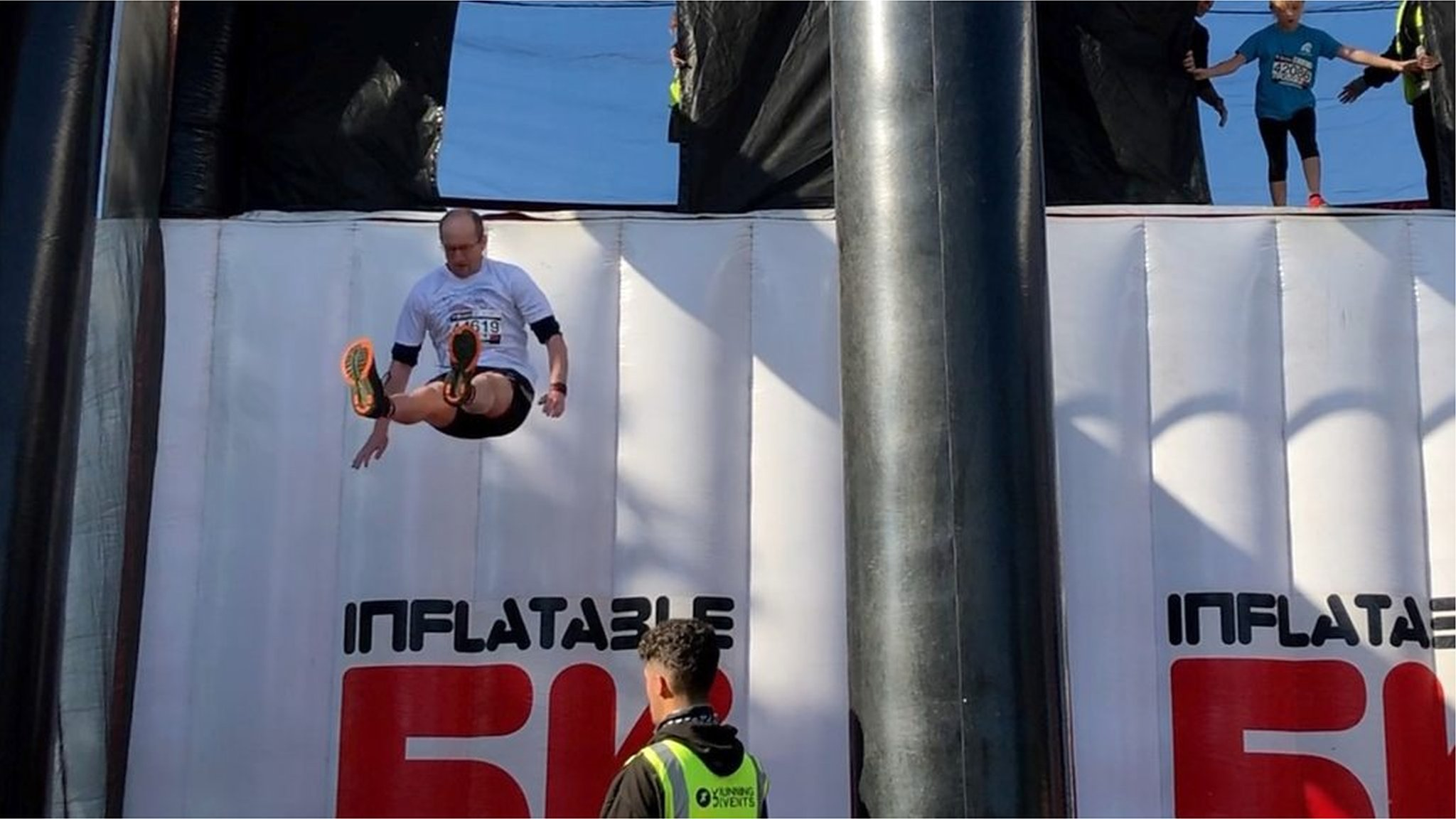 Runners take on 5km inflatable obstacle course