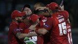 Lancashire celebrate winning the T20 Blast