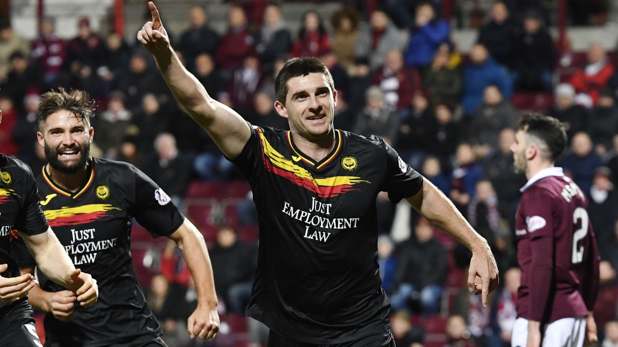 Doolan earns Partick a point at Hearts