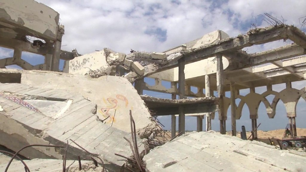 Gaza's abandoned airport in ruins