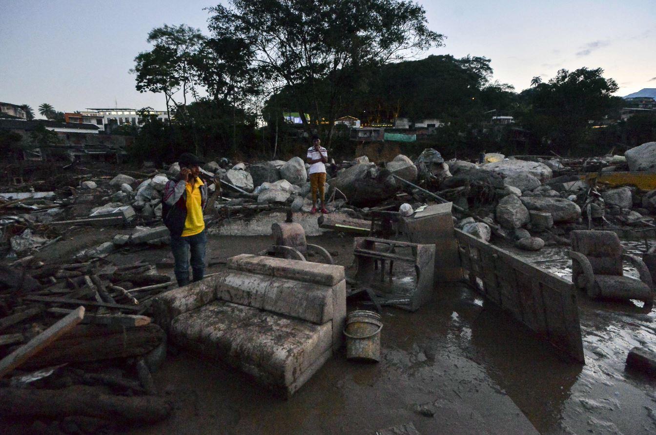 Área destruida por el desvale