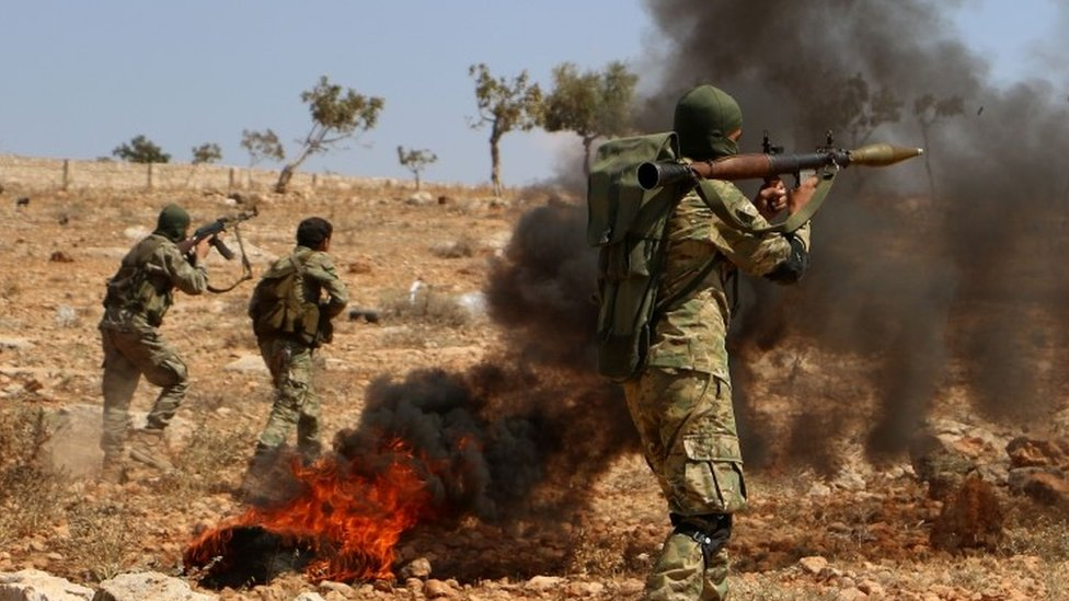 Syria war: Russia and Turkey to create buffer zone in Idlib