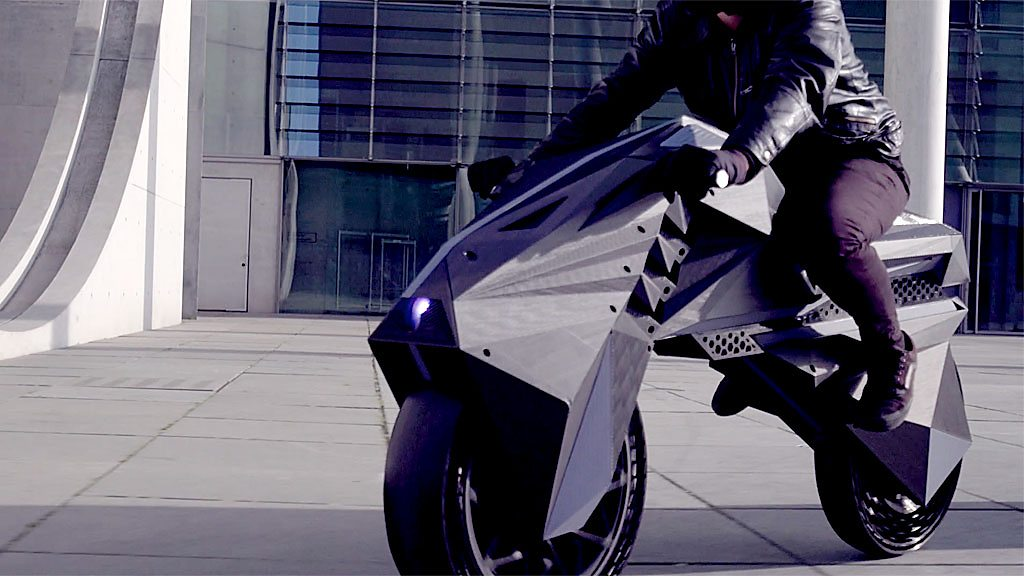 Nera: The 3D-printed electric motorbike