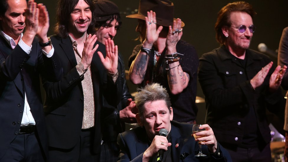 The Pogues frontman's star-studded 60th birthday