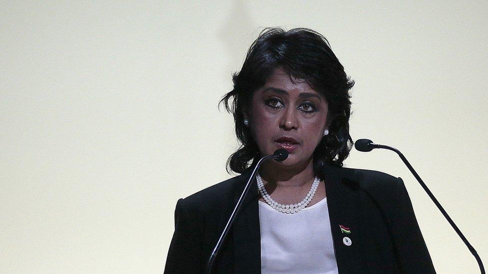 Mauritian President Ameenah Grib-Fakim