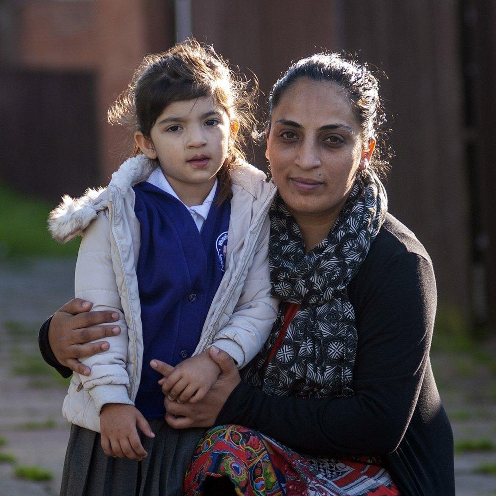 Iram Kanwal with daughter Samavia
