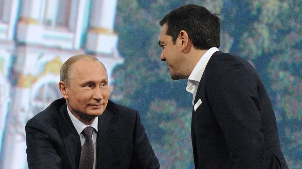 Vladímir Putin y Alexis Tsipras