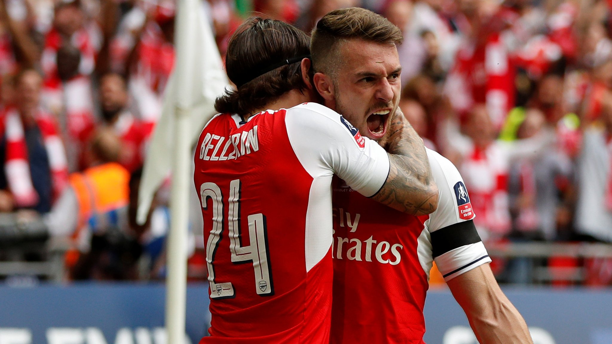 FA Cup final: Aaron Ramsey scores Arsenal winner against Chelsea