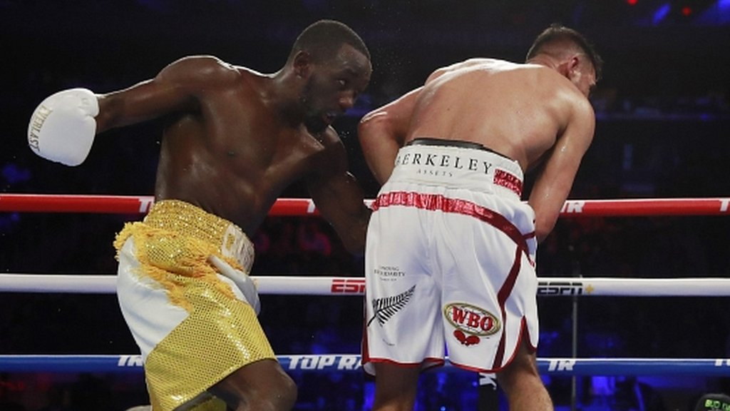 Amir Khan beaten by Terence Crawford after low blow