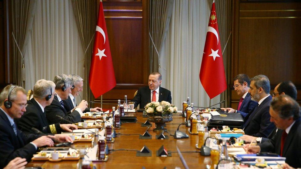 محادثات الجانب التركي والأمريكي