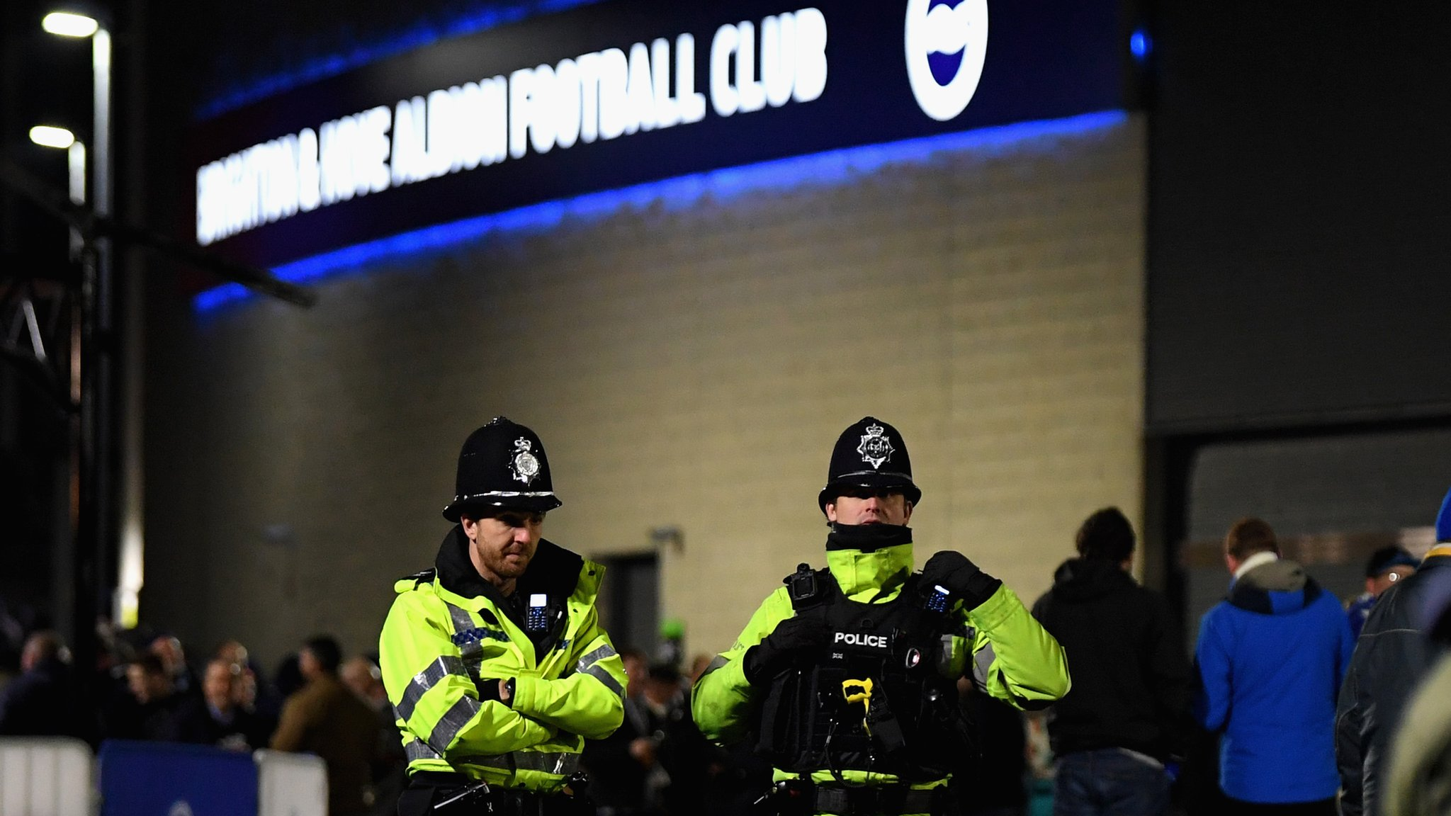 'Palace fans with tickets held for 45 minutes by police'