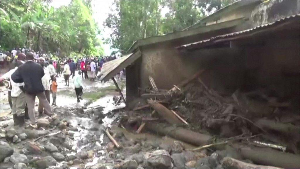 A massive landslide has struck eastern Uganda, killing more than 30 people.