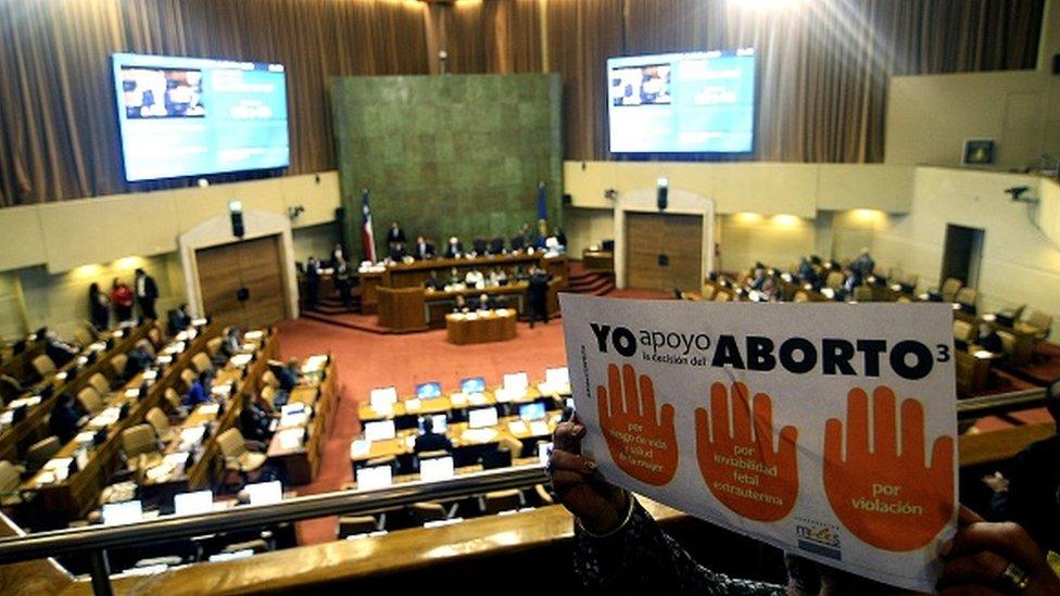 Debate sobre el aborto en Chile.